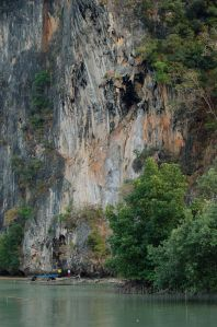 Climbing at Railay Beach.