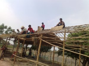 Putting the roof on the School of English for the Disadvantaged