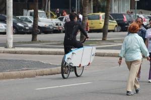 surfboard with bike holster