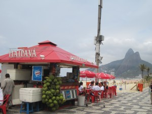 Kiosk bar on Ipanema Beach