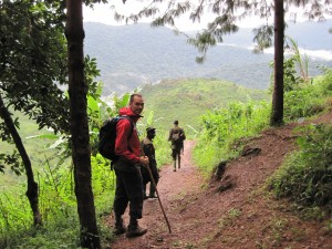 Setting off in Bwindi