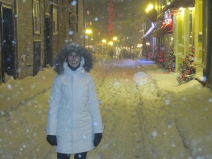 A standard winter night in Quebec City