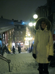 The snowy streets of Quebec City.