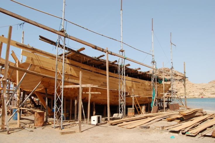 Dhow yard in Sur, Oman