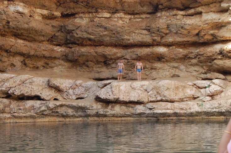 Swimming in the sinkhole in Oman