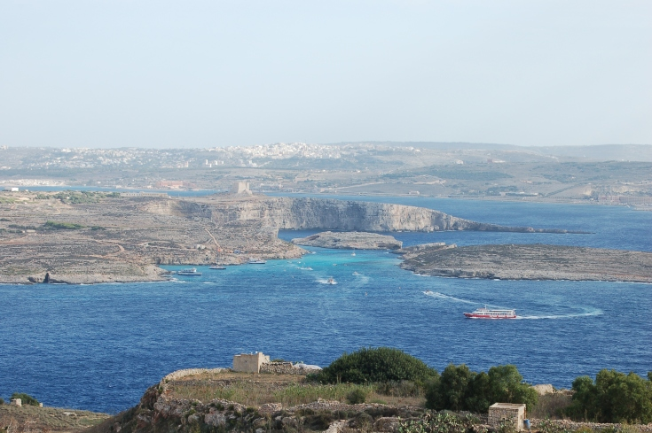 View from our balcony in Gozo.