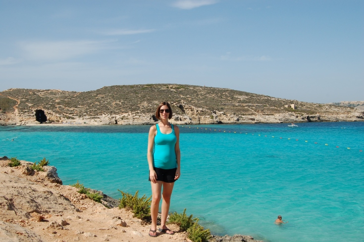Katy at the Blue Lagoon - Comino Island, Malta