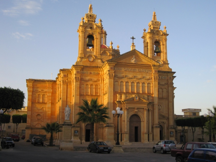 Church in the main square of Qala, Gozo, Malta