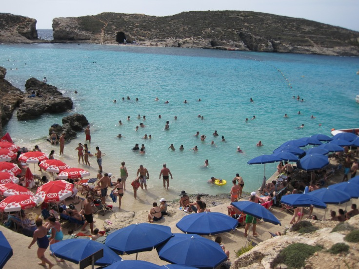 Busy Blue Lagoon - Comino Island, Malta