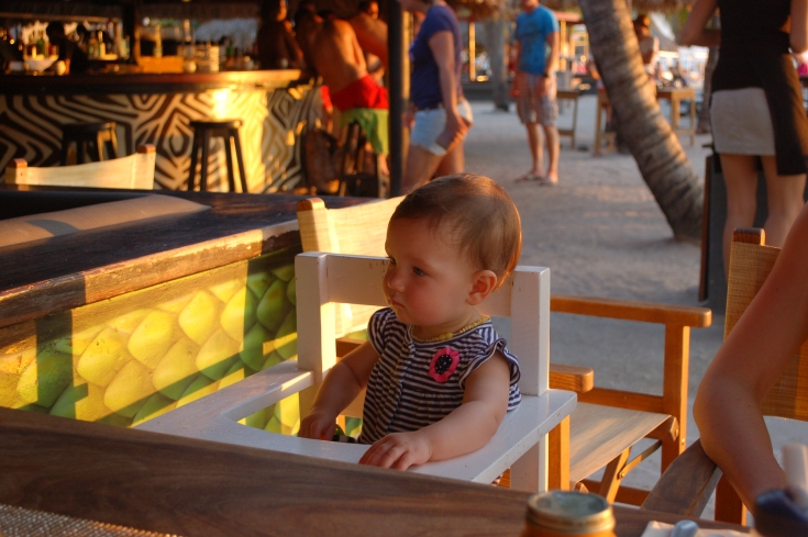 All business - dining in Curacao