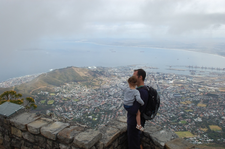"""No daddy. That's Signal Hill, and that's the World Cup stadium!"""