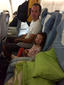 Well, it looks like one of us will get to stretch out and rest during the flight.