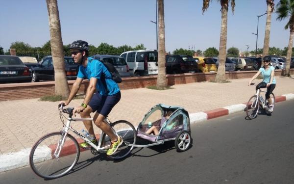Biking in Marrakech